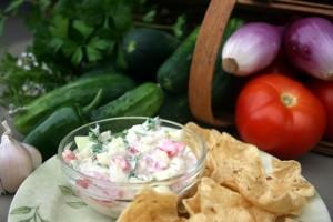 crisp cucumber salsa